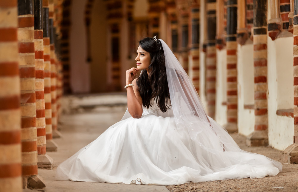 Bridal fashion shoot using natural light