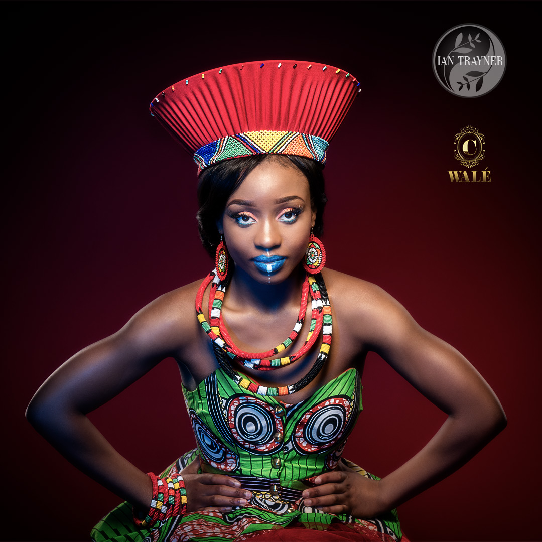 model portfolio photo shoot, Yollanda Musa, African styling, C Walé Hair and Beauty