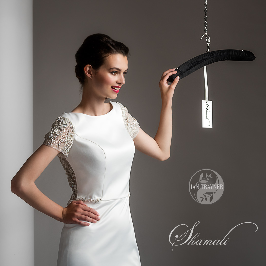 commercial bridal gown photos shoot for Shamali, hair and make up by Kirsty Cox
