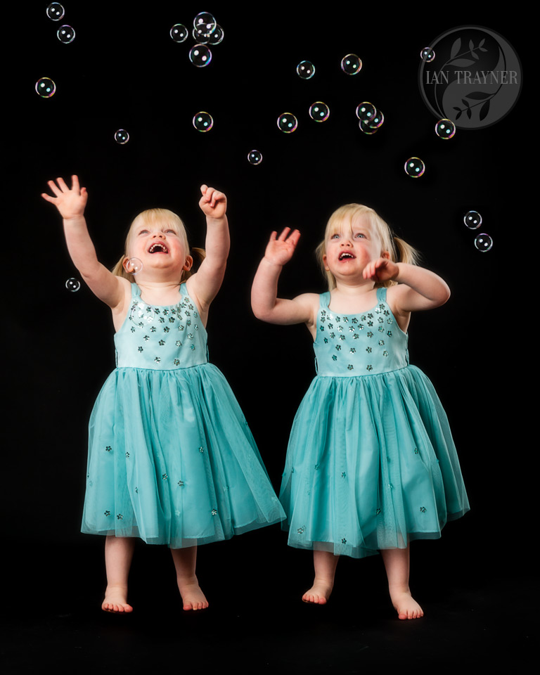 fun bubble photo shoots for children in Kingston upon Thames, Surrey