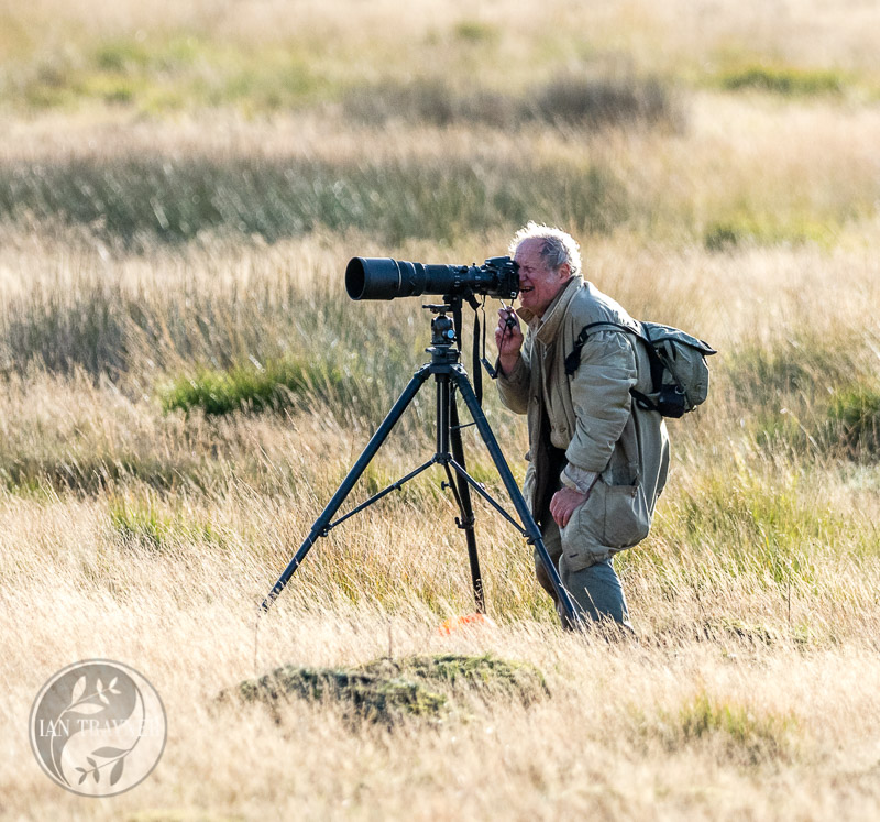 photo of photogapher in Richmond Park. Better look out!