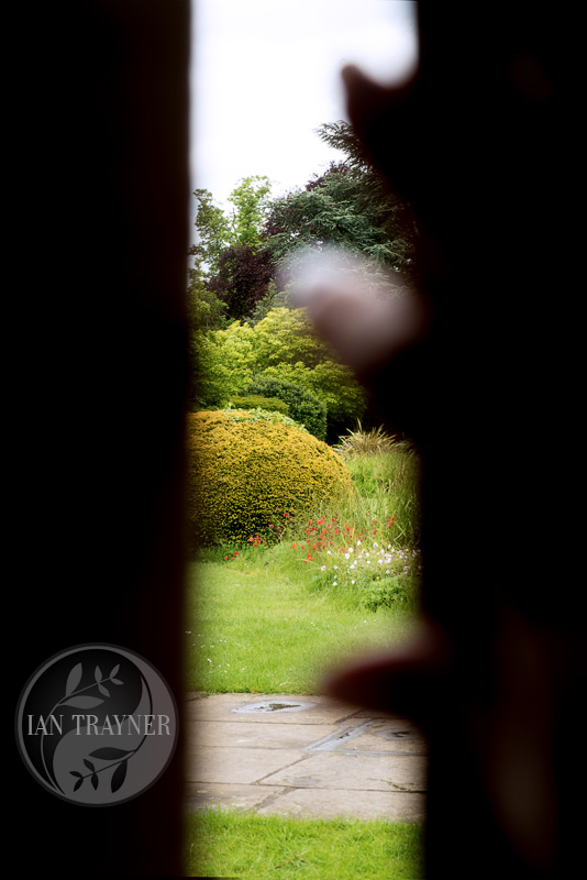 "Location fantasy photo shoot with PortraitX ""Secret Garden"". First glimpse as the gate opens."