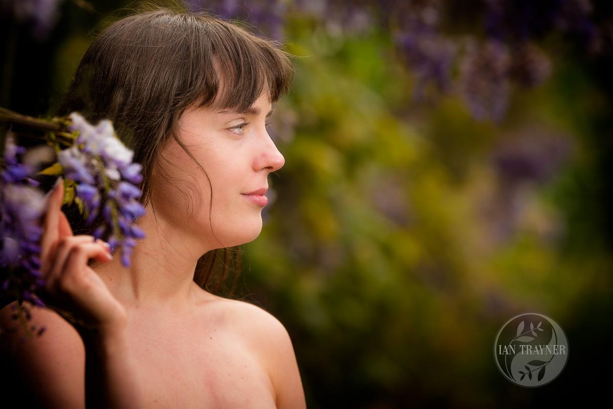 "Location fantasy photo shoot with PortraitX ""Secret Garden"". It makes me feel calm and content and in love with nature."