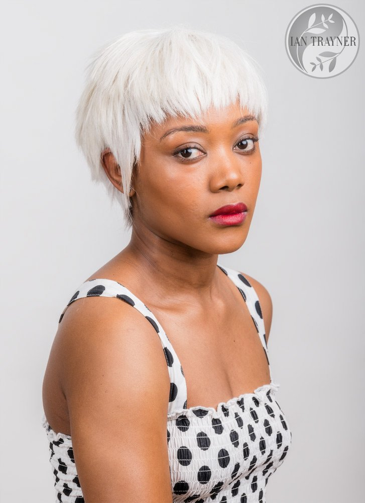 Actor headshot of beautiful actress Phyll McPhyll taken in my studio in Kingston upon Thames