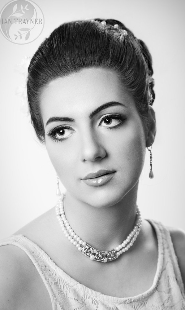 Model experience photo shoots and beauty photography in my studio in Kingston upon Thames. Black and white beauty photo.