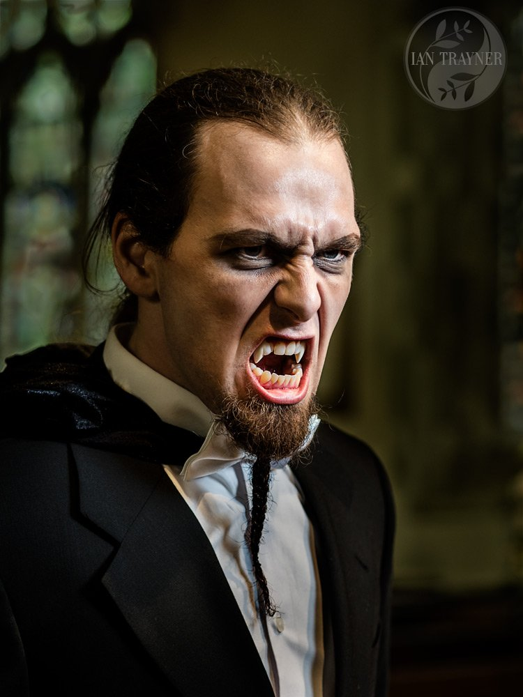 """Dracula"" or possibly some other vampire. Fantasy and cosplay photography by Ian Trayner"