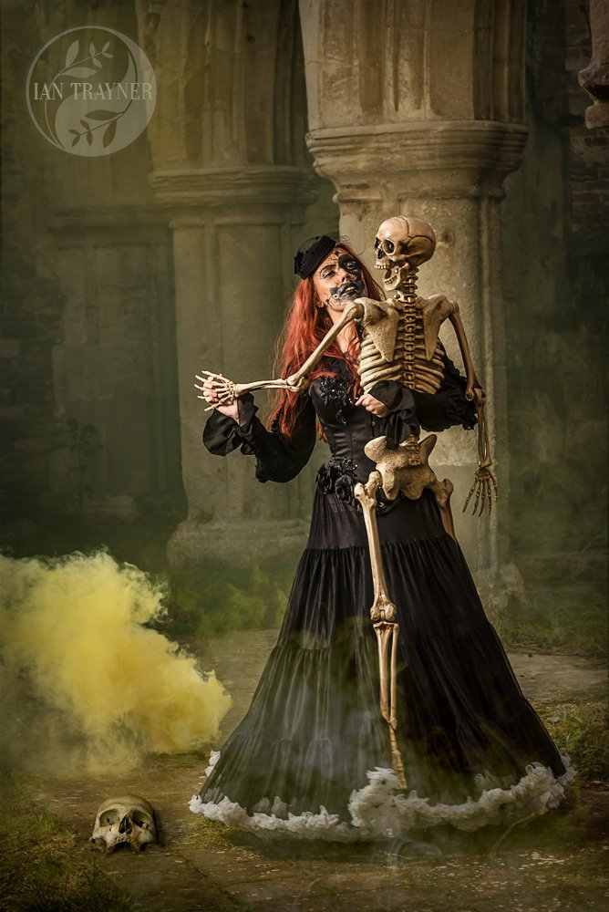 "Model Katie Berns ""dances with death"" in fantasy location photo shoot"