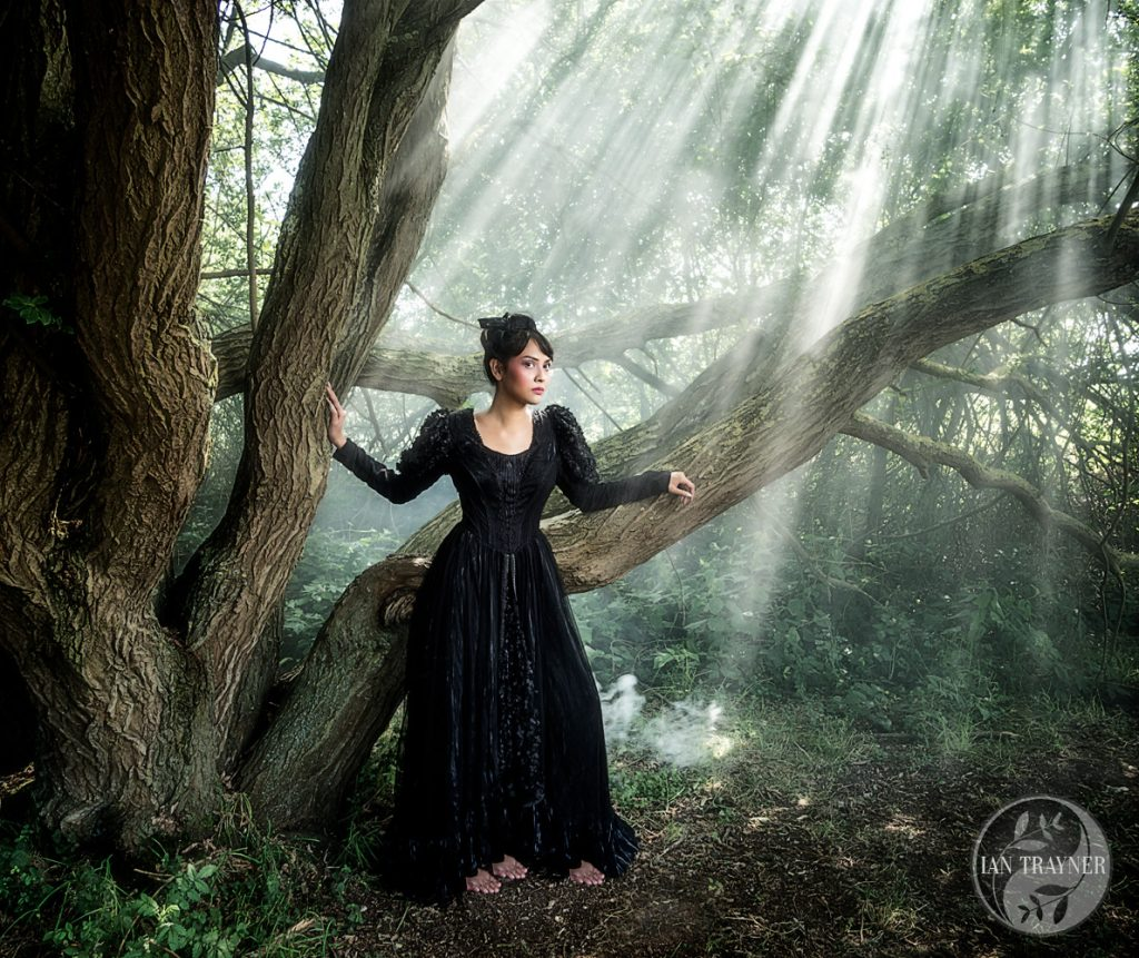 "Actress Ruby Rose as ""witch in the forest"" in fantasy photo shoot. Subtitled ""beware of beautiful women they may not be what the seem""."