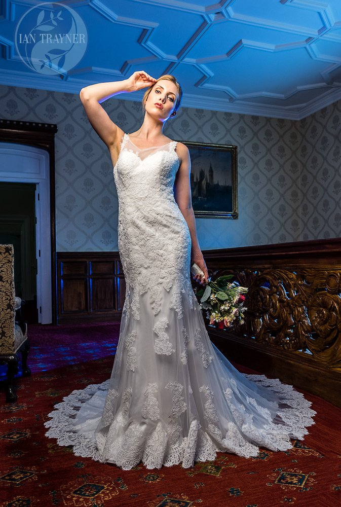 Commercial bridal gown photography by Ian Trayner. Bridal gown by Shamali in South London.