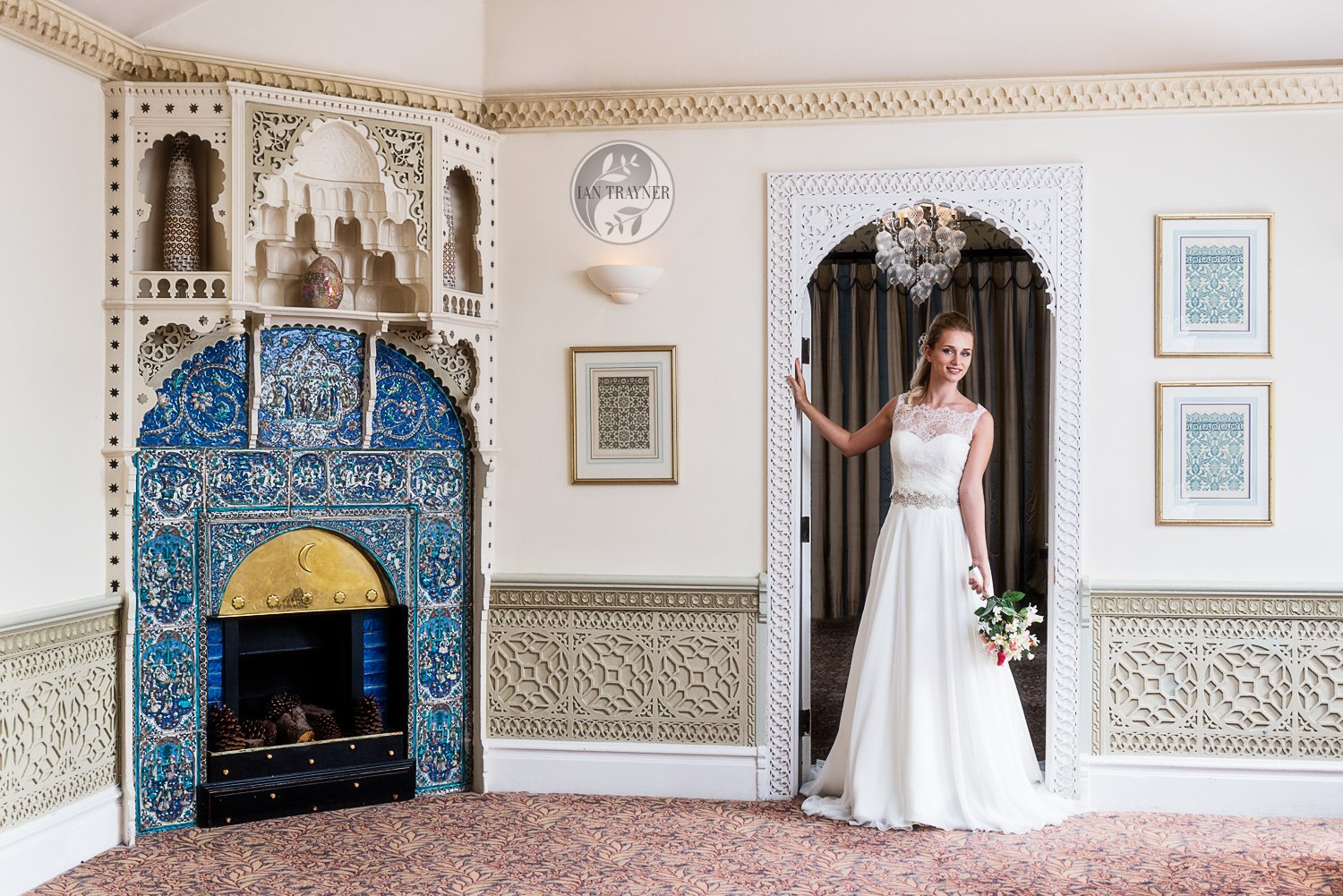 Location photo shoot for bridal gown designer Shamali. Bridal gown by Shamali. Photo taken by fashion photographer Ian Trayner.