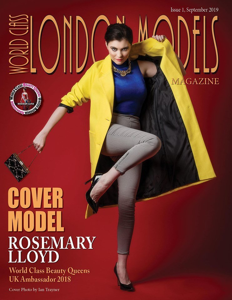 "Cover model Rosemary Lloyd photographed for ""World Class London Models"" magazine"