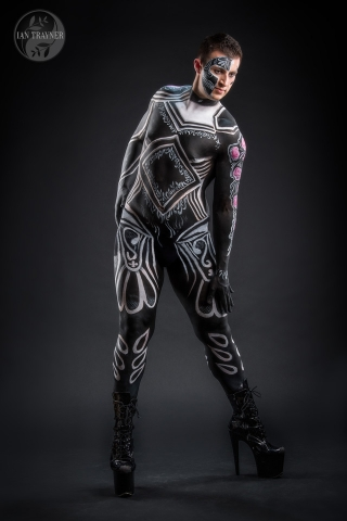 Male fantasy body painting by Syfer, photography by Ian Trayner, photographer in Kingston, Surrey